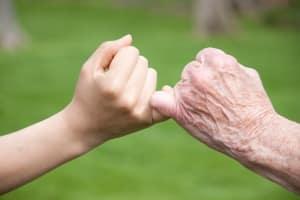 Fingerzeichen zeigefinger kleiner finger