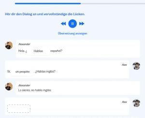Busuu-Dialog