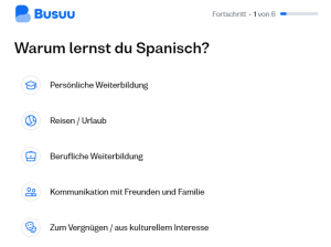 Busuu-Lernintention