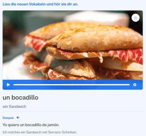 Busuu-Vokabular